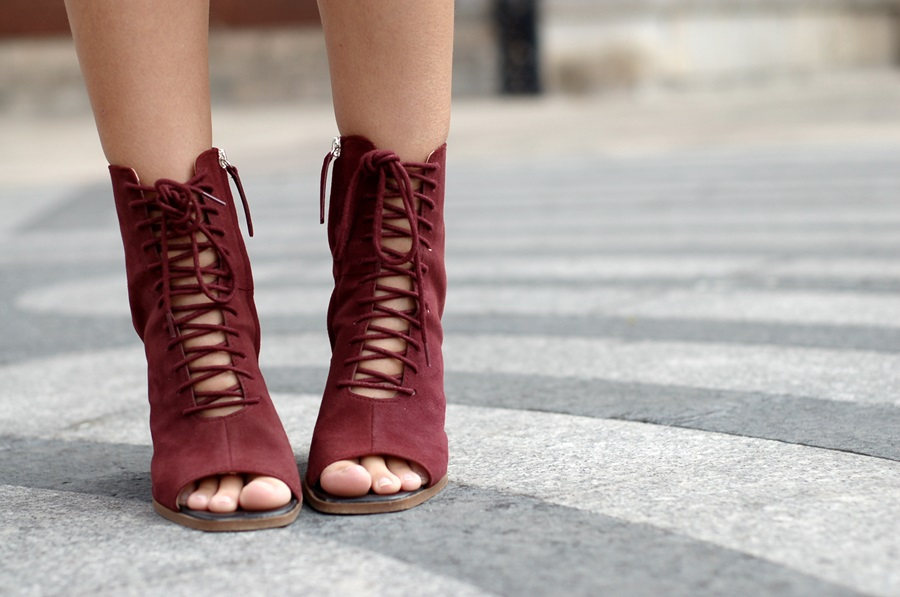 littledreamsbyr bordeaux sandals zara streetstyle