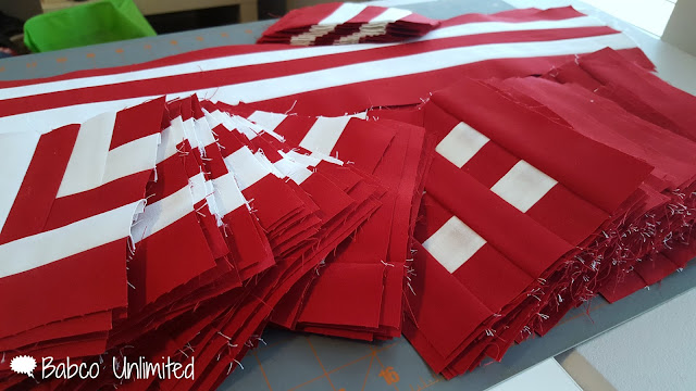 BabcoUnlimited.blogspot.com - Red & White Quilt, Modern Quilt, 2 color quilt