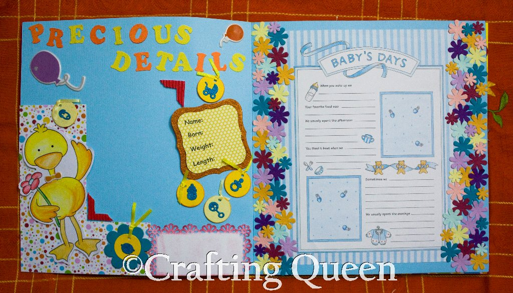 crafting baby boy scrapbook album