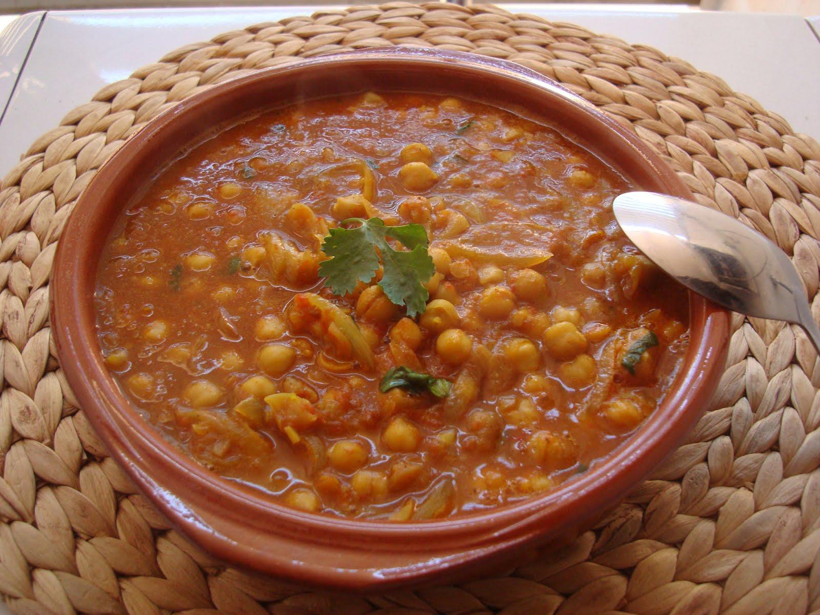 A la mesa y rico kabli channa garbanzos al curry - Garbanzos olla express ...