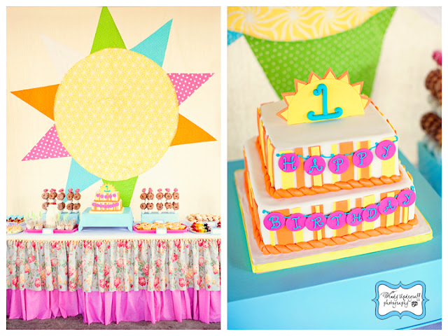 Bright as the sun 1st birthday party via Kara's Party Ideas KarasPartyIdeas.com #1stbirthdaypartyideas
