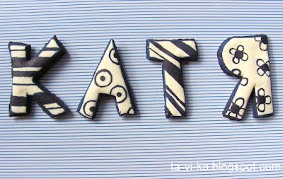 буквы из соленого теста