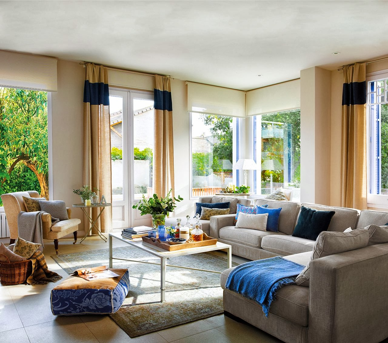 Amenajare n albastru jurnal de design interior - Decoracion casa pequenas ...