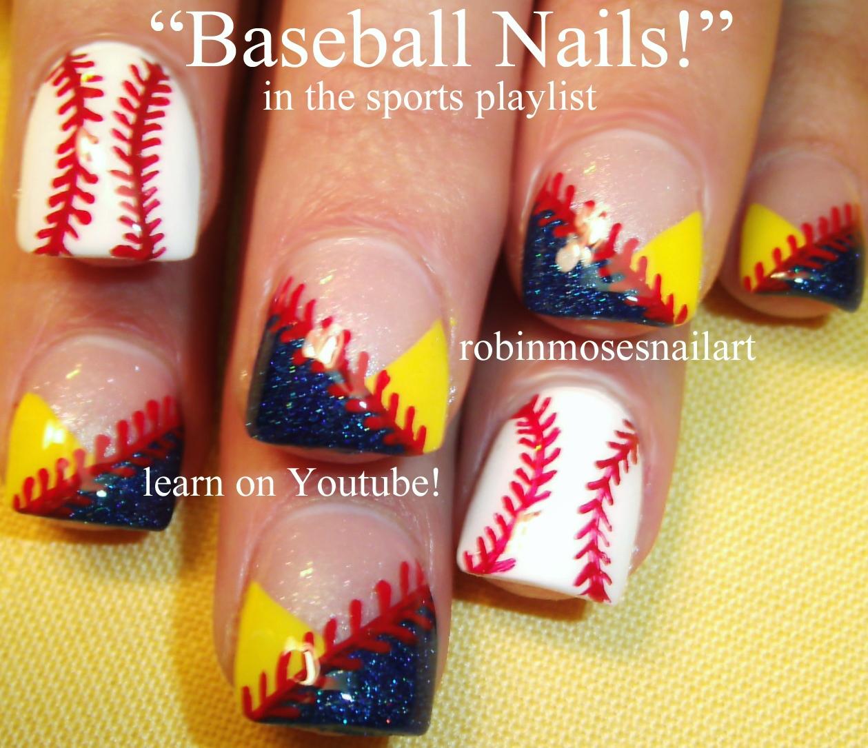 Nail Art Design Purple Flower Nail Art Baseball Nails Sports Nail