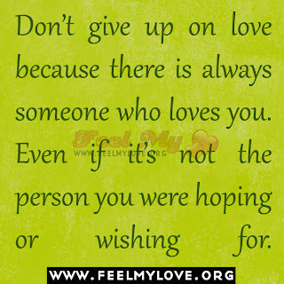 Don't give up on love