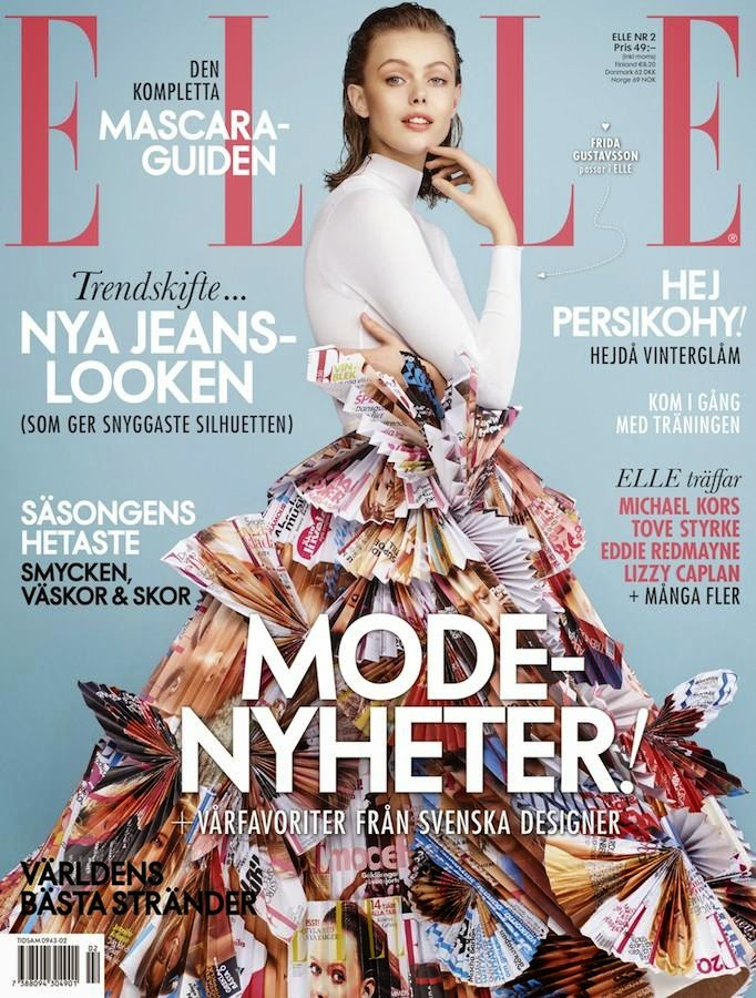 Frida Gustavsson - Elle, Sweden, February 2015