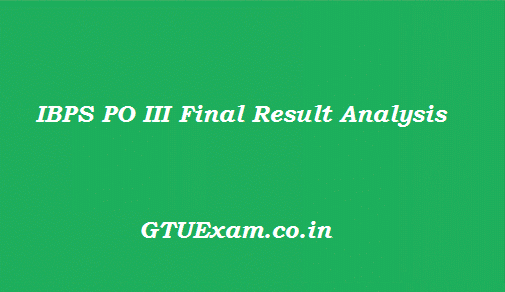 IBPS PO III Final Result 2014