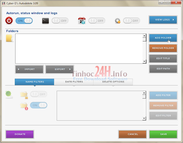 Cyber-D's AutoDelete Screenshot 1