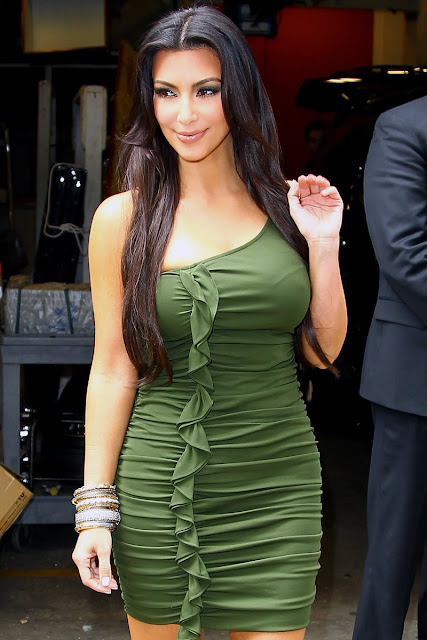 Kim Kardashian in Green Dresses