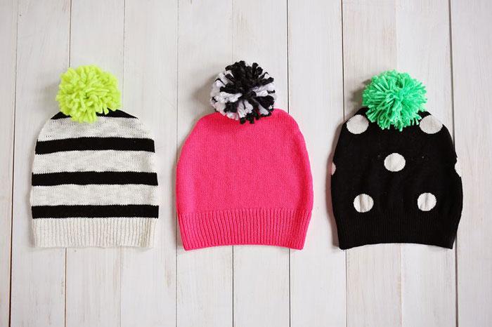 5 ideas para reciclar un jersey viejo. Gorro de lana Beautiful Mess