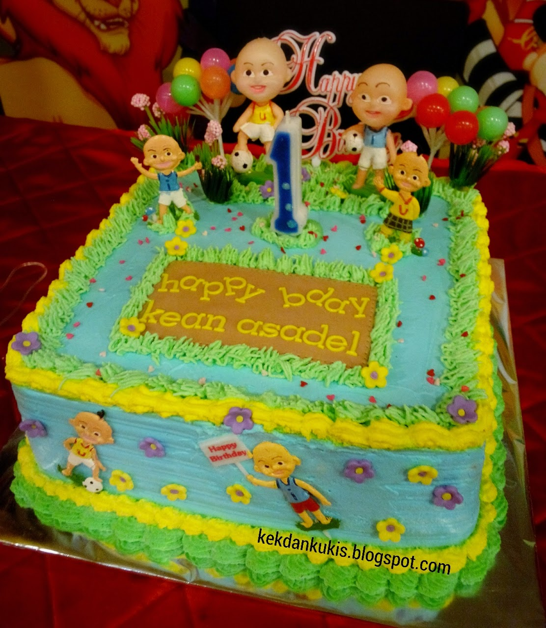 DAPUR CAKE DAN COOKIES UPIN IPIN BIRTHDAY CAKE