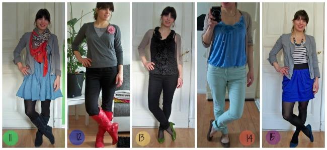 Fashion Challenge Jeden Tag ein anderes Outfit tragen und das mit einer minimalen Garderobe von nur 12 Kleidern für einen ganzen Monat