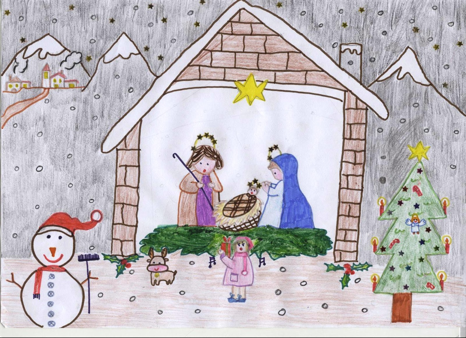 Grupo leo alicante xxx aniversario 1985 2015 iii for Dibujos postales navidad ninos