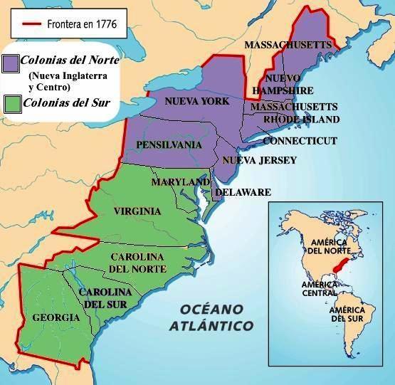 13 colonias de norteamerica: