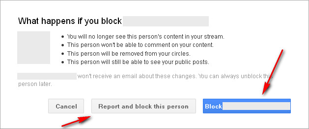 Google+: What happens if you block