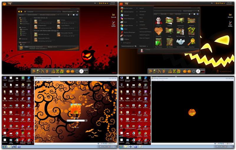 download windows 7 alienware skin pack full new windows 7 halloween ...