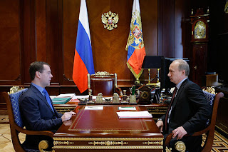Russian Presidential Hopefuls, Russian President Medvedev and Prime Minister Putin