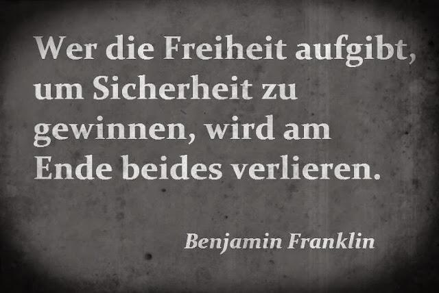 Benjamin Franklin über Sicherheit und Freiheit