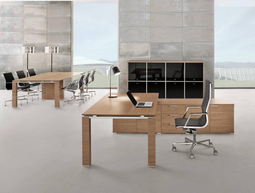 Foundation dezin decor office space in 3d model for Office table 3d design