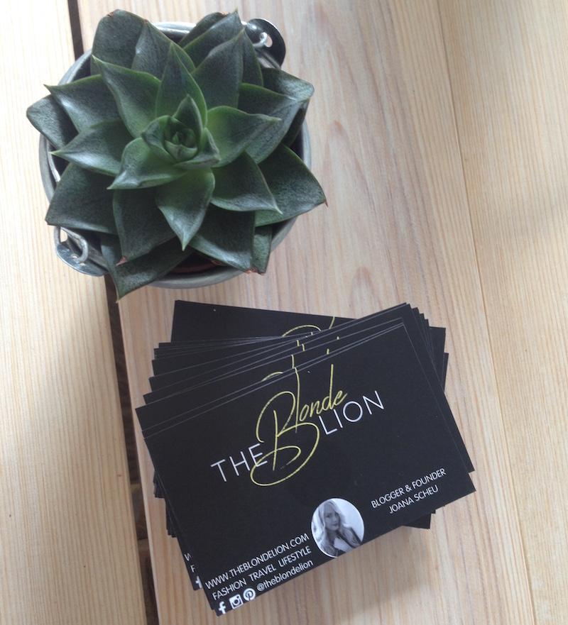 TheBlondeLion Lifestyle Fotogeschenke Prentu Visitenkarten
