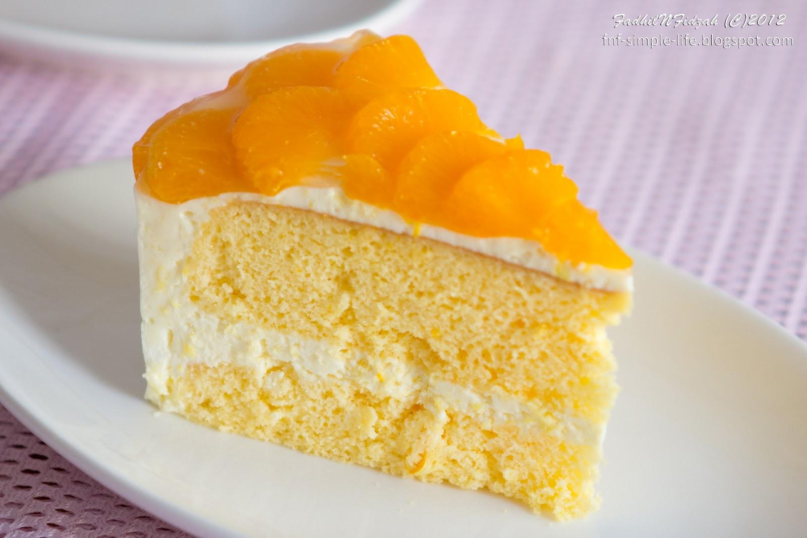 Tapi jelly untuk topping kek tu FnF guna limau mandarin dalam tin