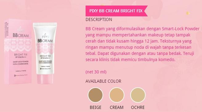 Eye Candy For Ladies PIXY BB Cream Bright Fix SPF 30