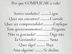 Não complique a vida?