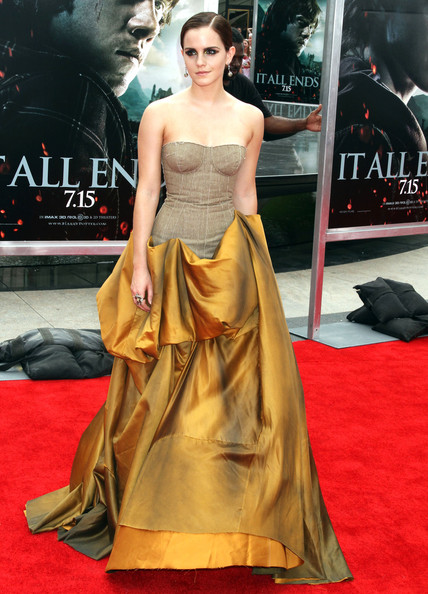 Emma Watson Harry Potter And The Deathly Hallows Part 2 Premiere Dress the deathly hallows part 2