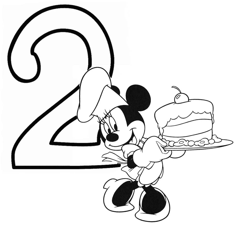 minnie mouse birthday coloring pages - photo#10