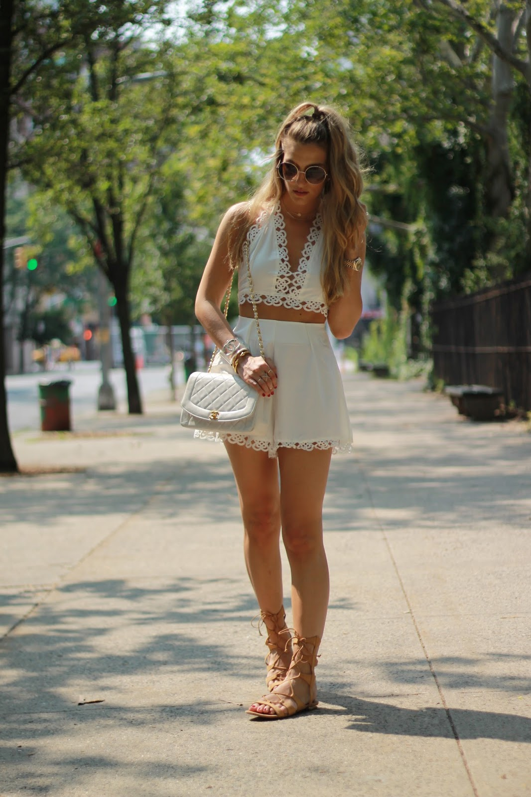 dressed for dreams in, schutz lace up sandals, boho lux, summer outfits nyc