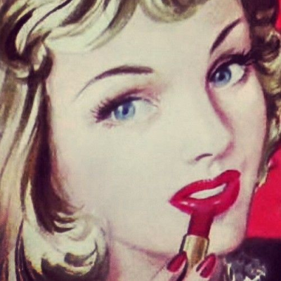 Vintage Lipstick Advertisement #1940s #lipstick #1950s #red #beauty
