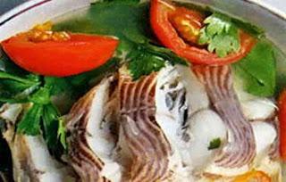 Món ăn ngon: Cá Điêu hồng nấu ngót