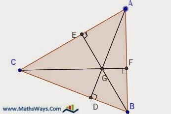 مركز تعامد مثلث