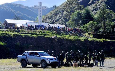 Delapan Anggota TNI dan Dua Sipil Tewas Tertembak di Puncak Jaya