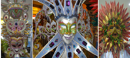 Various Masskara Creations in Bacolod