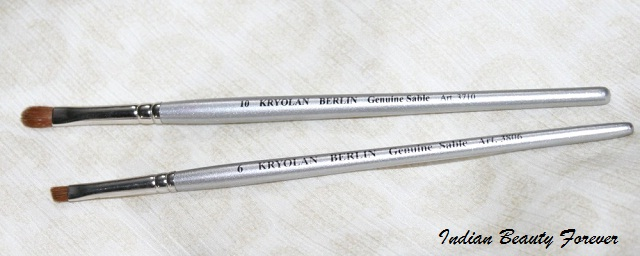 Kryolan Professional eye makeup brushes