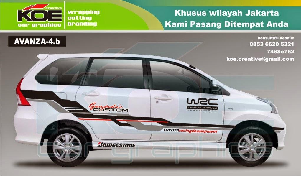 Harga Jual Cutting Sticker Mobil Avanza Xenia 3 250000
