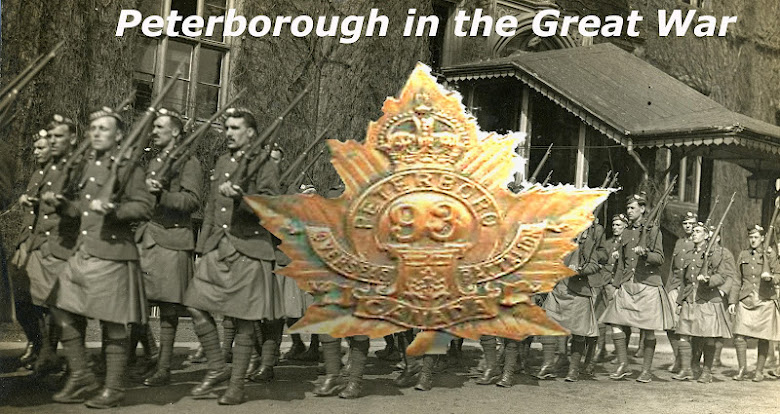 Peterborough during the First World War 1914 - 1918.