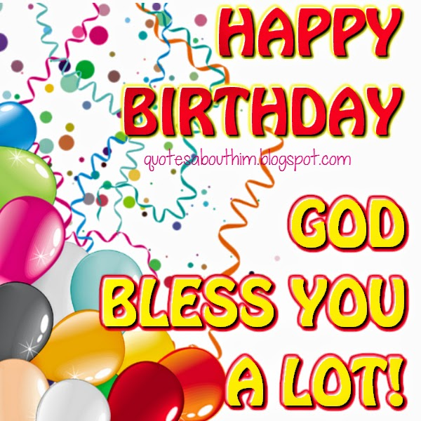 Happy birthday to you with blessings - postcard