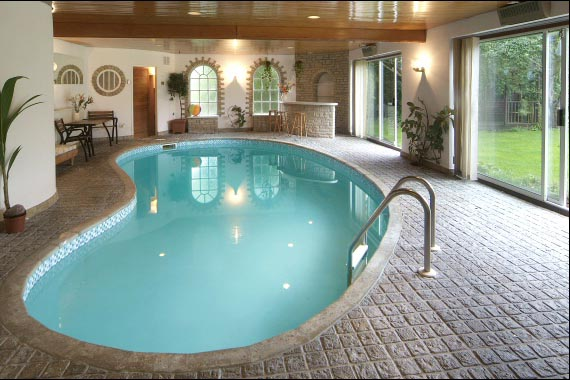 appropriate location for indoor swimming pool design