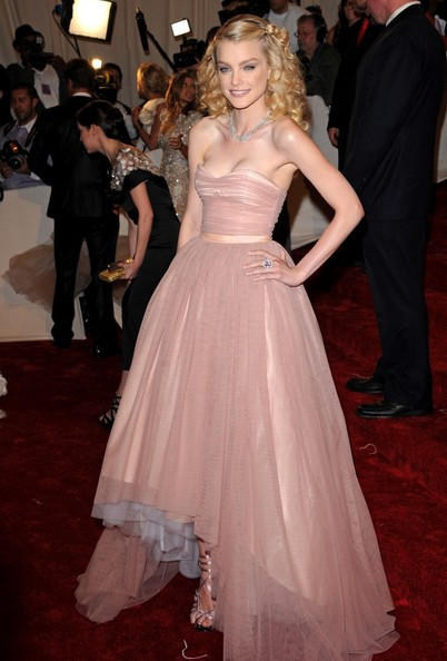 "Jessica Stam at the ""Alexander McQueen: Savage Beauty"" Costume Institute Gala held at The Metropolitan Museum of Art on May 2, 2011 in New York City."