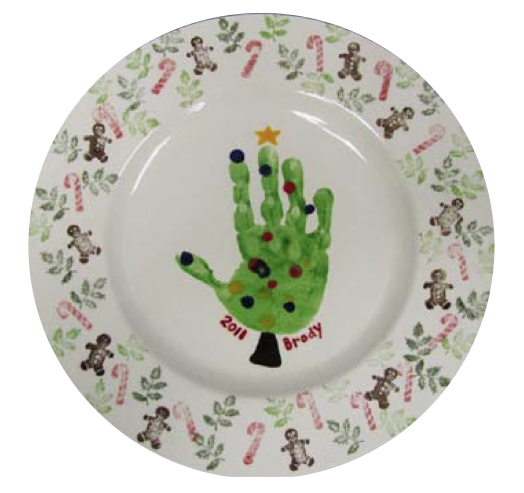 the dirt handmade holiday plates
