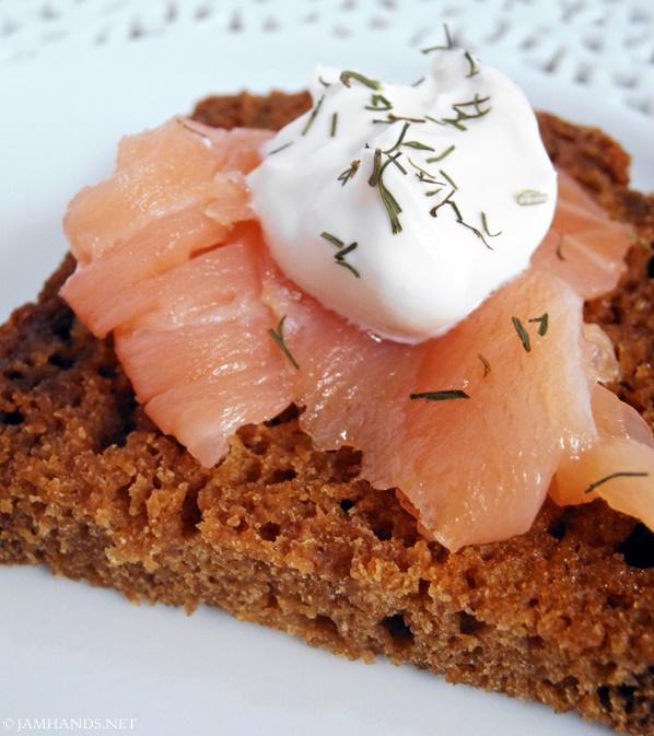 Jam Hands: Smoked Salmon on Homemade Brown Bread
