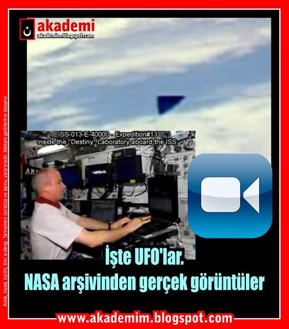 İşte UFO'lar! NASA'nın kendi arşivinden gerçek görüntüler (Video)