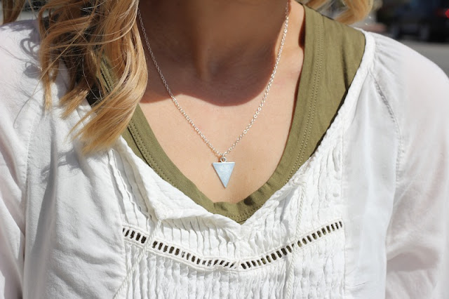 Current Habits Triangle Necklace