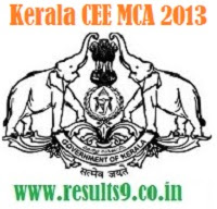 Kerala CEE MCA 2013 Entrance Exam Notification
