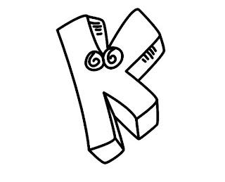 Alfabeto para colorir - Letra K colorir