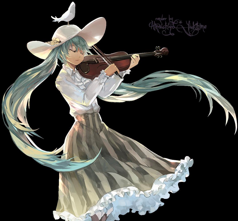 Render Miku + Violin