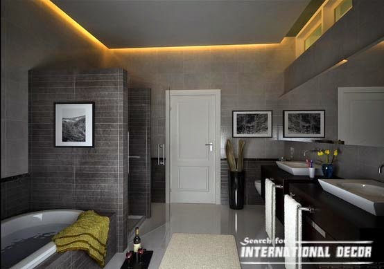 False ceiling designs with backlight for bathroom