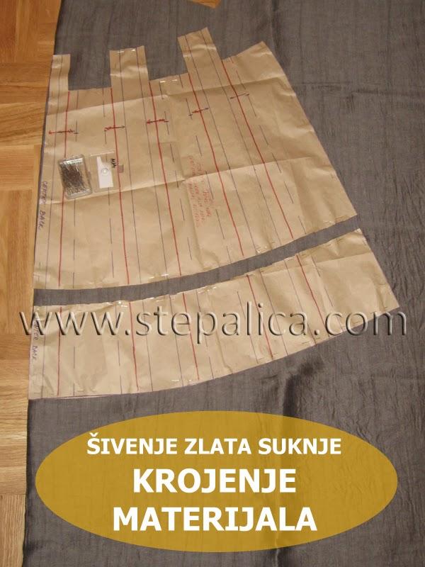 Šivenje Zlata suknje: #5 krojenje materijala